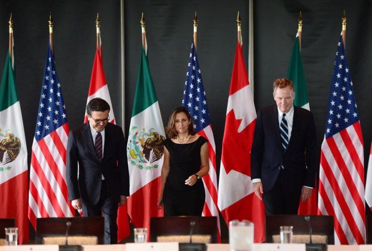 Chrystia Freeland, Ildefonso Guajardo Villarreal, Robert E. Lighthizer, NAFTA negotiations, Global Affairs Canada,