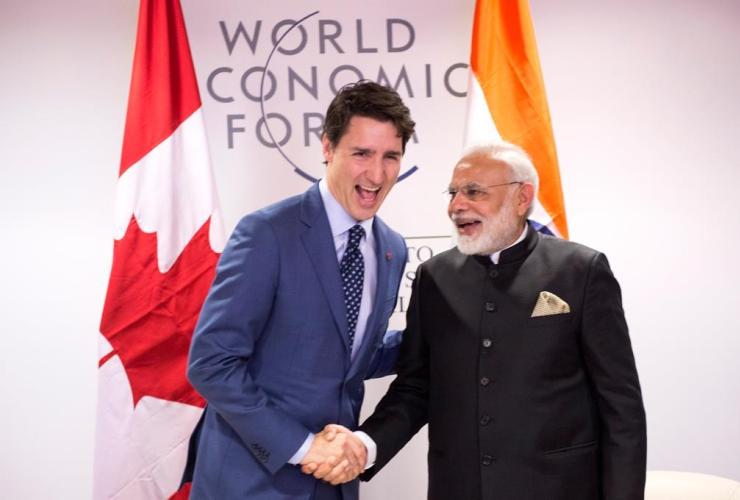 Prime Minister Justin Trudeau, Indian Prime Minister Narendra Modi, Davos, Switzerland, World Economic Forum,
