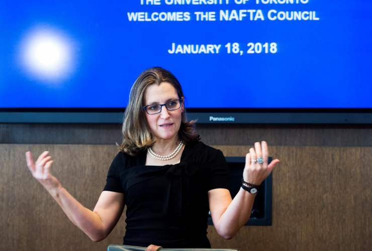 Chrystia Freeland, Minister of Foreign Affairs, NAFTA Council, renegotiations, NAFTA, Toronto,