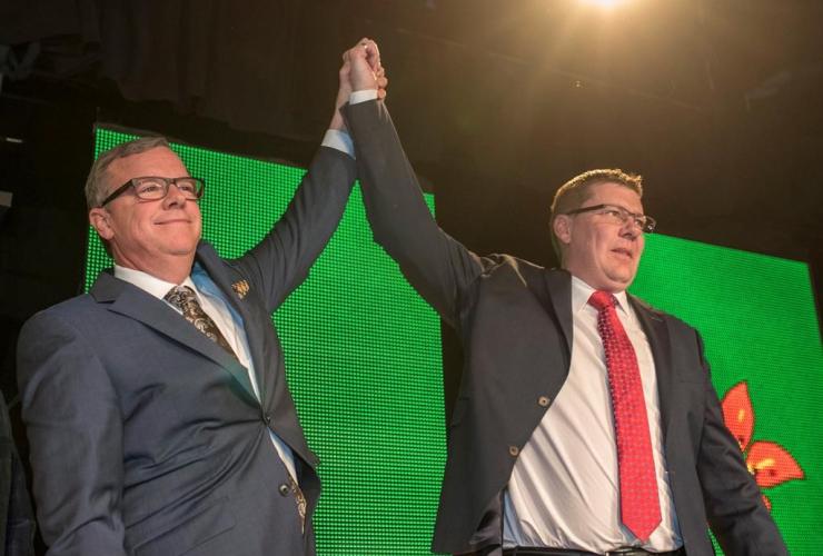 Saskatchewan Premier Brad Wall, Scott Moe, Saskatchewan Premier, Saskatchewan Party Leadership Convention, Saskatoon,