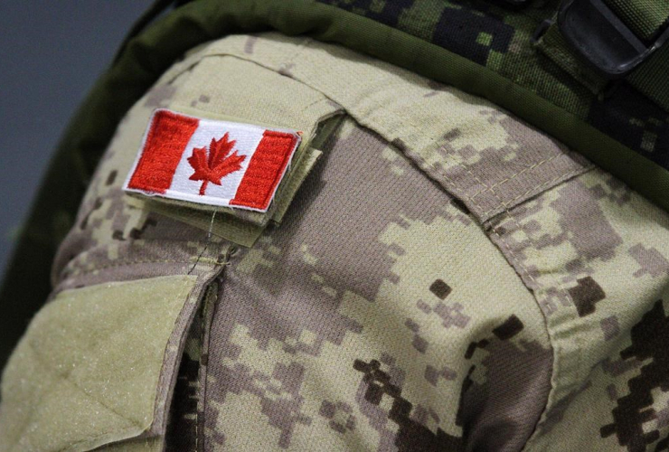 Canadian flag, Canadian forces, CFB Trenton, Trenton,