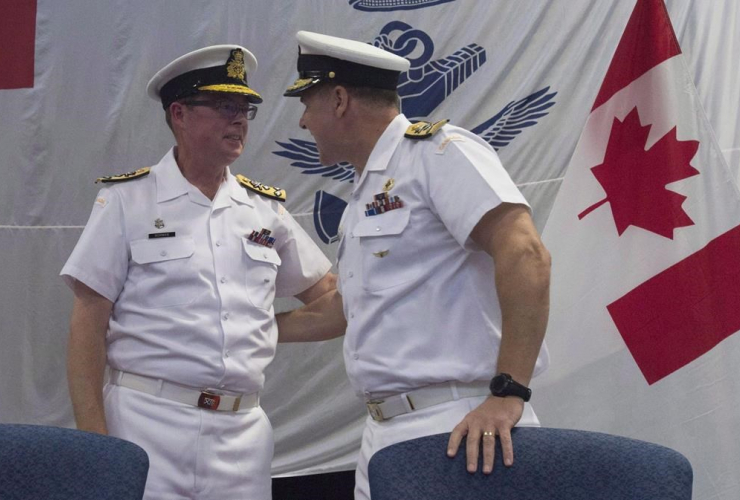 Royal Canadian Navy, Vice-Admiral Mark Norman, Vice-Admiral Ron Lloyd, change of command, ceremony,