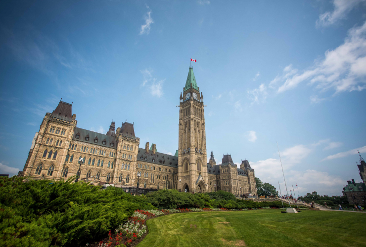 Parliament Hill, Peace Tower, Centre Block, downtown Ottawa, Ottawa
