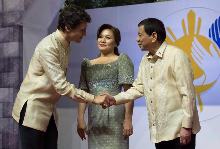 Justin Trudeau, Philippine Presiden,t Rodrigo Duterte, Honeylet Avancena, ASEAN