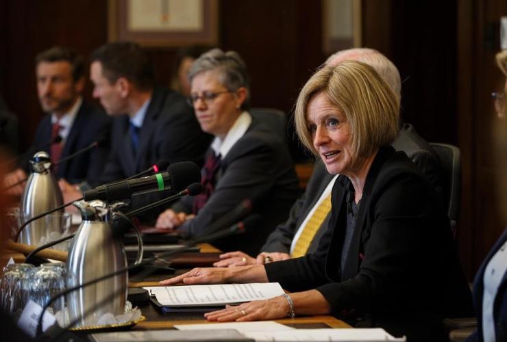 Alberta Premier, Rachel Notley, Market Access Task Force, Trans Mountain oil pipeline, Edmonton Alta,