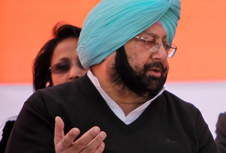 Captain Amarinder Singh, election rally, Chabal, Amritsar, India,