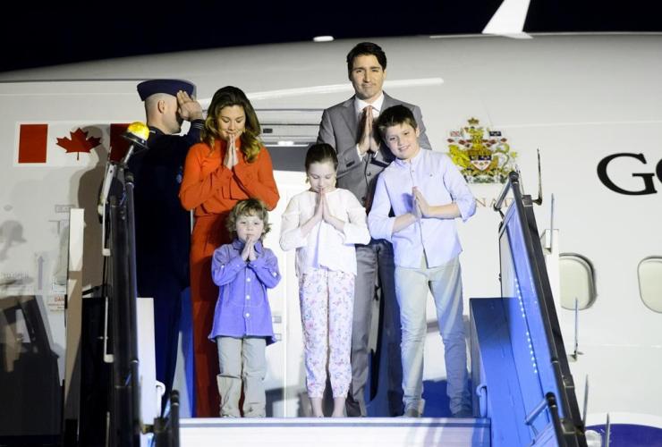 Prime Minister Justin Trudeau, Sophie Gregoire Trudeau, Xavier, Ella-Grace, Hadrien,