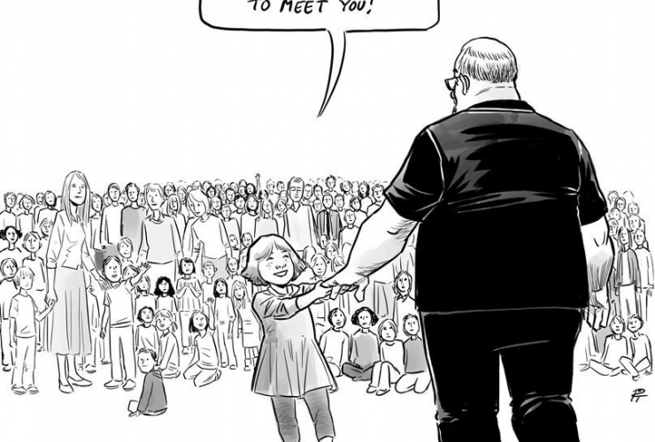 Vancouver artist, Pia Guerra, cartoon, Hero's Welcome, Florida shooting victim, Aaron Feis,