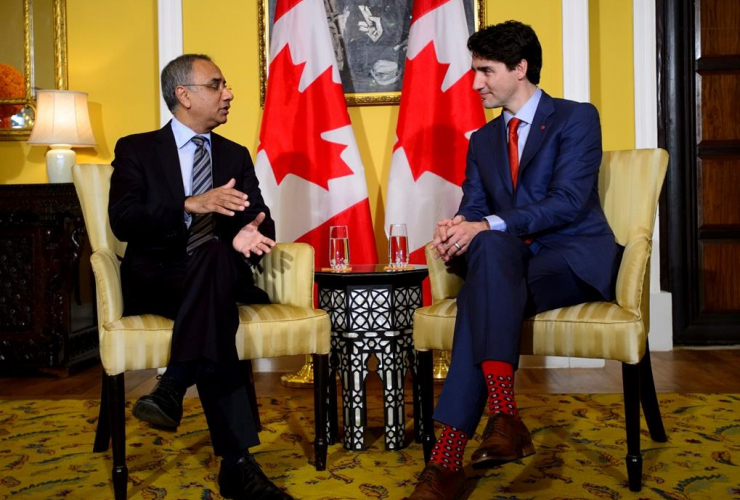Prime Minister Justin Trudeau, CEO Infosys, Salil Parekh,