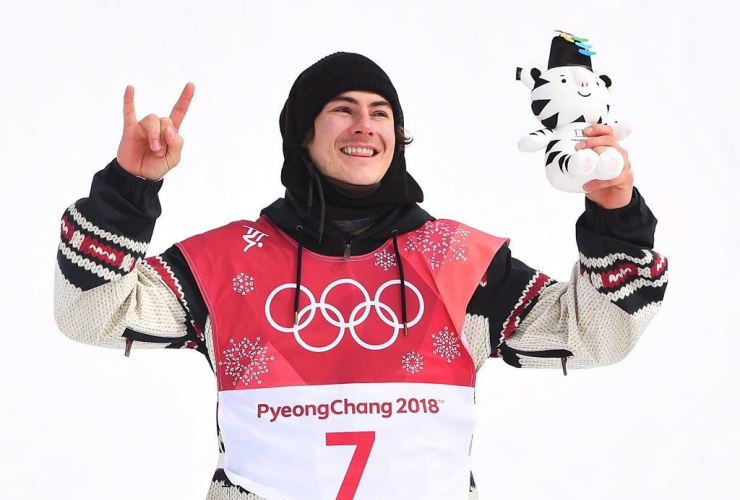 Gold medallist, Sebastien Toutant, snowboard big air final, 2018 Winter Olympic Games, Pyeongchang, South Korea,