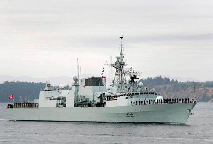 HMCS Calgary, Victoria, Vancouver Island, Georgia Straight, oil spill