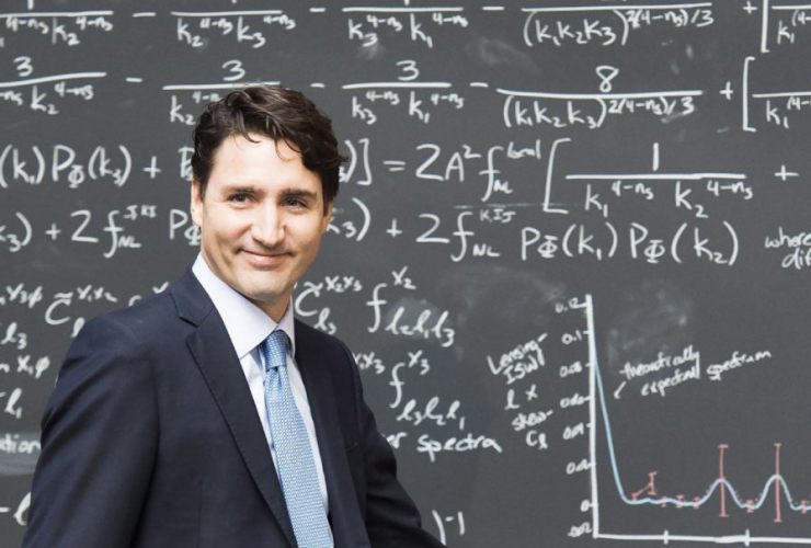 Justin Trudeau, quantum computing, classroom, research, science