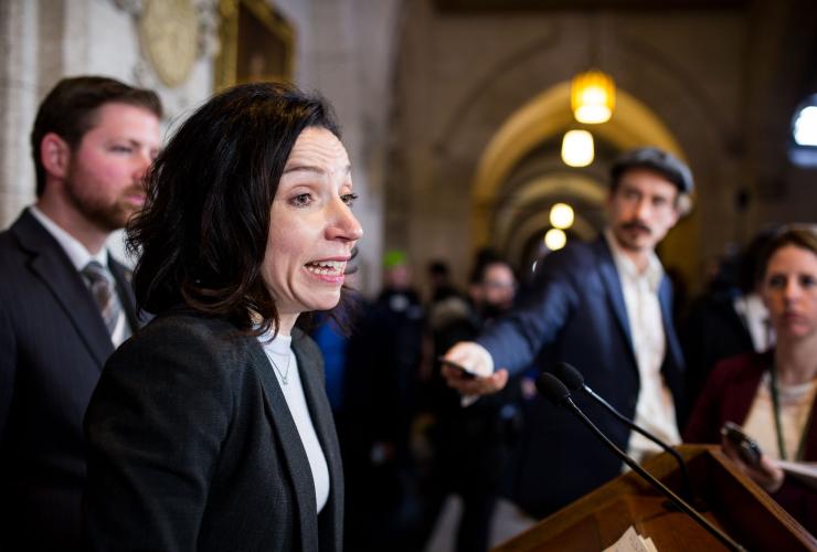 Martine Ouellet, Bloc Quebecois, Budget 2018, Parliament Hill, seven MPs