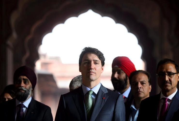 Prime Minister Justin Trudeau, Jama Masjid, Mosque, New Delhi, India,