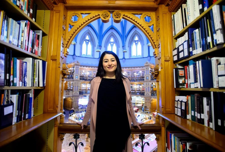 Minister of the Status of Women Maryam Monsef, Library of Parliament, Parliament Hill, Ottawa,