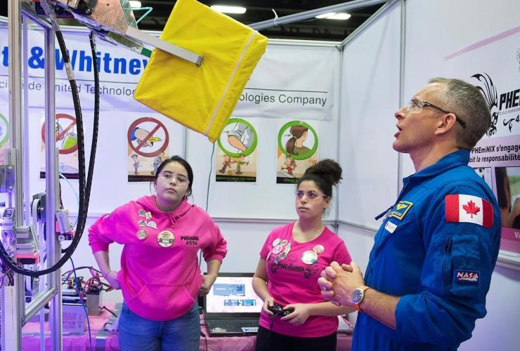 Astronaut, David Saint-Jacques, robot, Quebec robotics competition, Montreal,