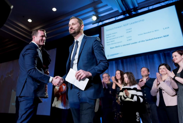 Trent Wotherspoon, Ryan Meili, Saskatchewan, New Democrats, leadership convention, Delta Hotel, Regina,