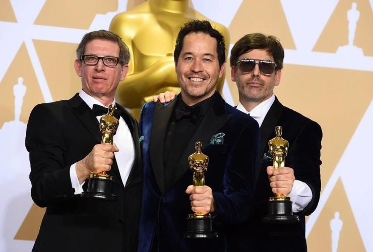 Jeffrey A Melvin, Paul D. Austerberry, Shane Vieau, best production design, The Shape of Water, Oscars,