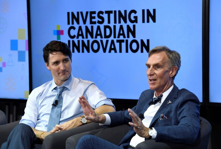 Justin Trudeau, armchair discussion, Bill Nye, Budget 2018, Canadian innovation,