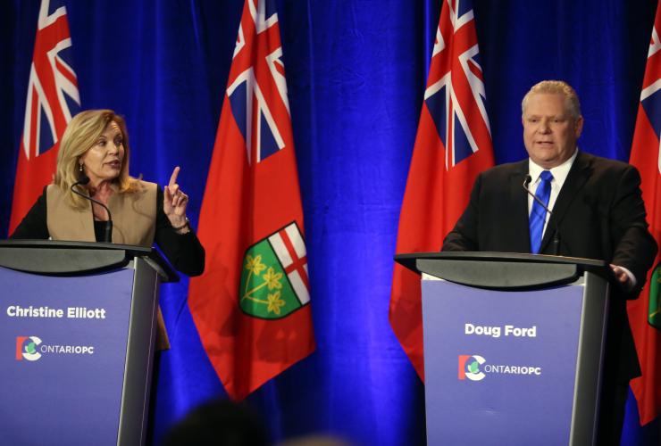 Christine Elliott, Doug Ford, Ontario, Progressive Conservative, debate, Ottawa