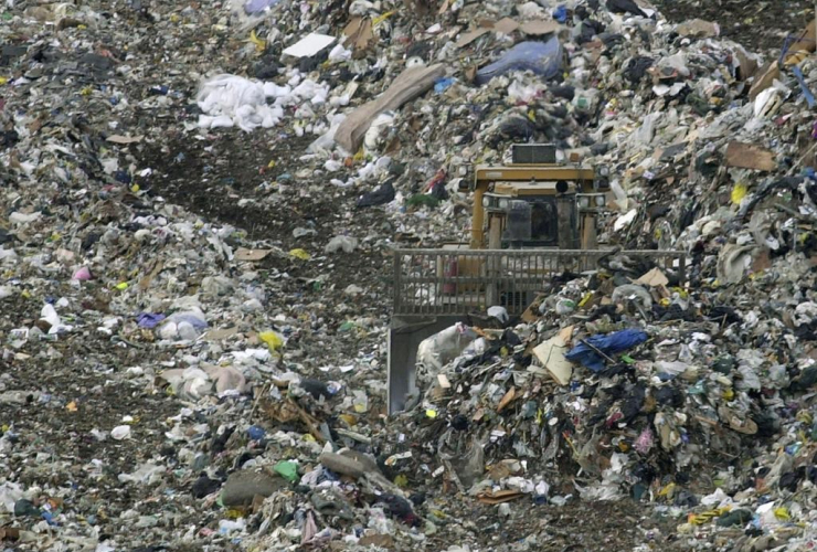 Garbage, landfill, Sumpter Township, Mich.,