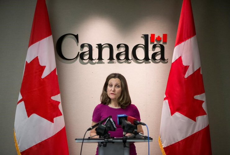 Chrystia Freeland, Minister of Foreign Affairs,