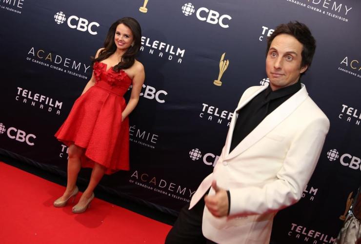 Canadian Screen Awards, hosts, Emma Hunter, The Beaverton, Jonny Harris, Murdoch Mysteries, red carpet, Canadian Screen Awards,