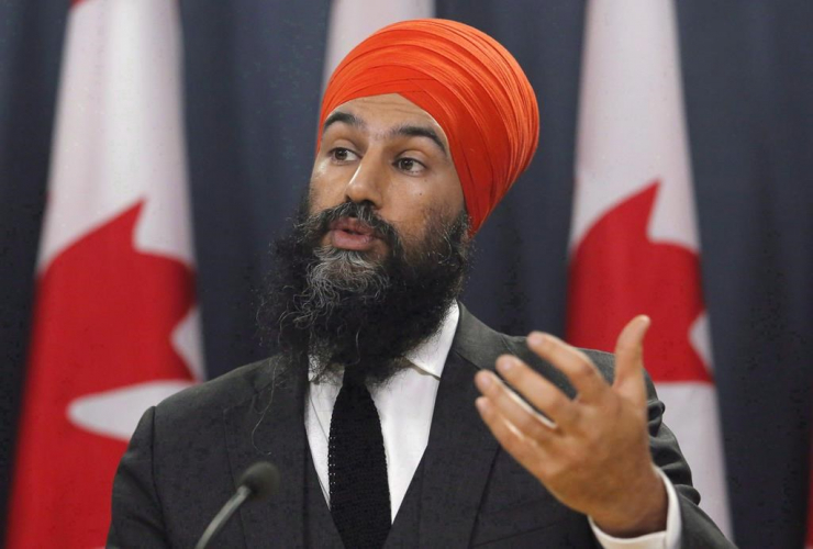 NDP Leader, Jagmeet Singh, press conference, federal budget,