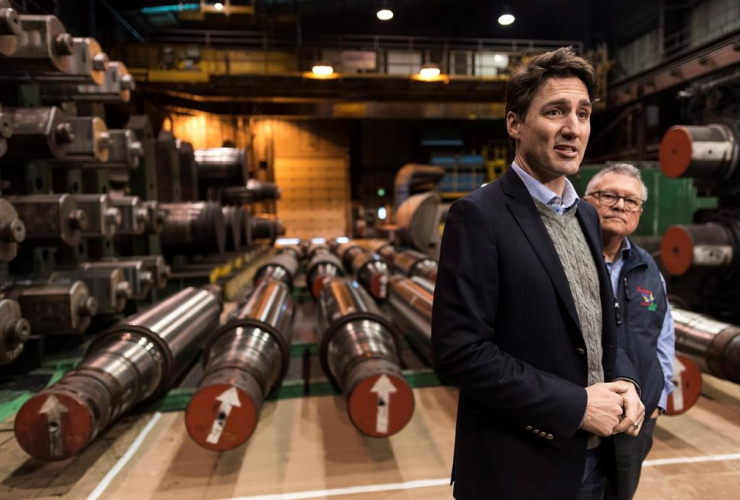 Prime Minister Justin Trudeau, Public Safety Minister Ralph Goodale, EVRAZ Regina, steel company, Regina, Sask.,