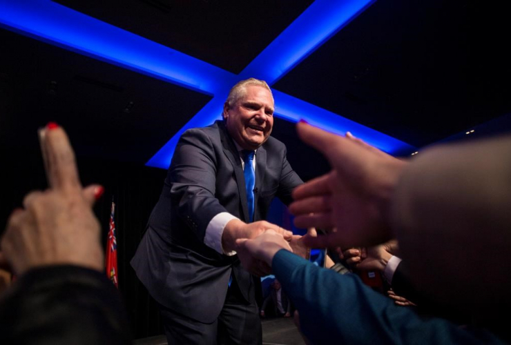Ontario PC Leader, Doug Ford, supporters, unity rally, Toronto,