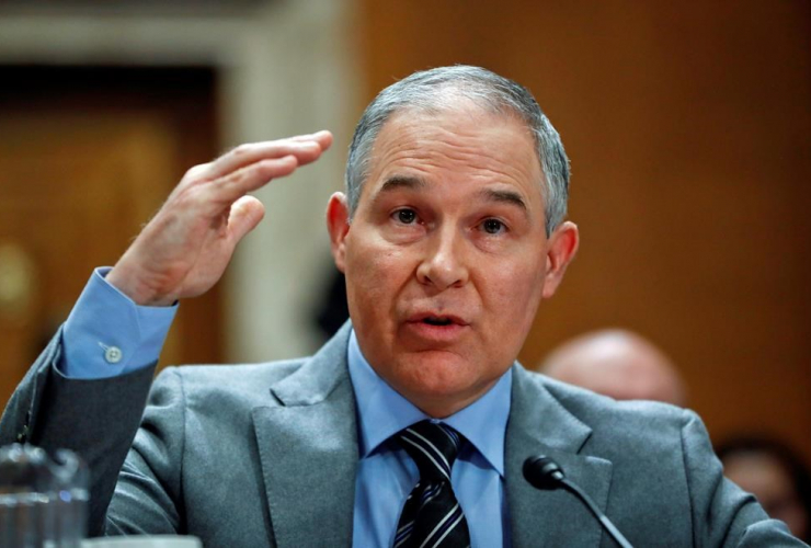 Environmental Protection Agency administrator, Scott Pruitt, Senate Environment Committee, Capitol Hill, Washington,