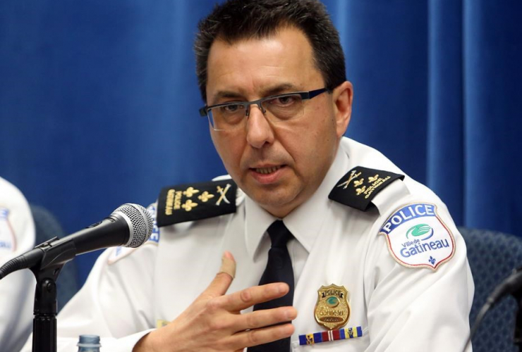 Mario Harel, Police, Gatineau, reporter, arrest