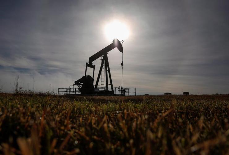 pumpjack, oil and gas installation, Cremona, Alta.,