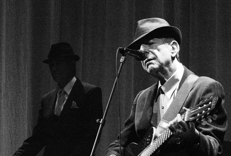 Leonard Cohen photo from Wikipedia Creative Commons by Rama