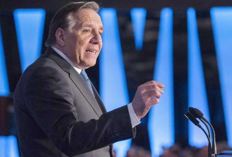 Coalition Avenir Quebec leader, Francois Legault, International Relations Council,