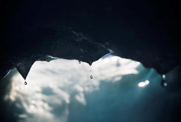 Drops, water, iceberg, melting, Nuup Kangerlua Fjord, Nuuk, Greenland,