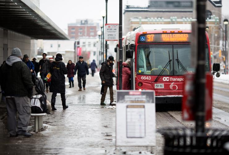 OC Transpo, VIA Rail, LRT, Ottawa, Rideau Centre, public transit