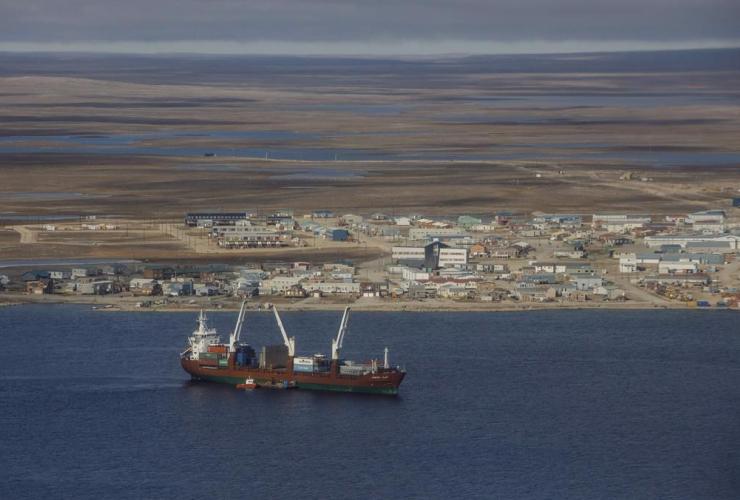 cargo ship, Cambridge Bay Nunavut,