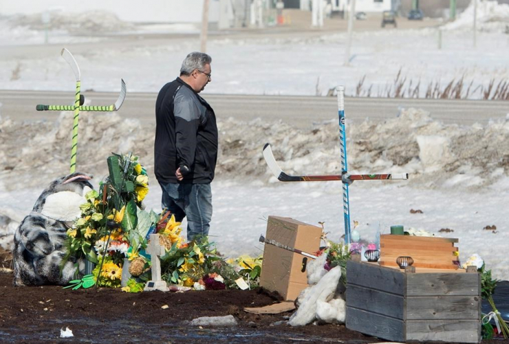 Myles Shumlanski, memorial, bus crash, Tisdale,