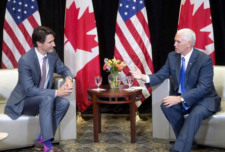Justin Trudeau, Mike Pence, National Governor's Association, NGA,