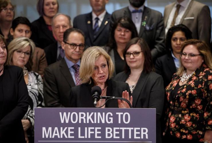 Rachel Notley, Alberta legislature, Edmonton