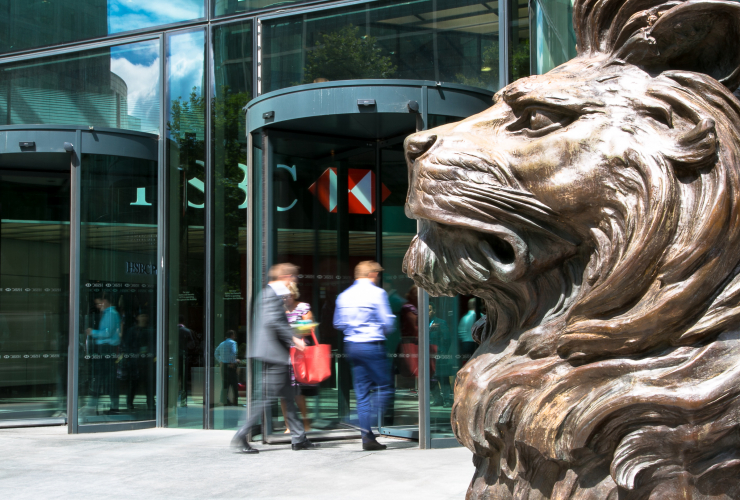HSBC, lion, London, headquarters, Europe, bank, fossil fuels, financing