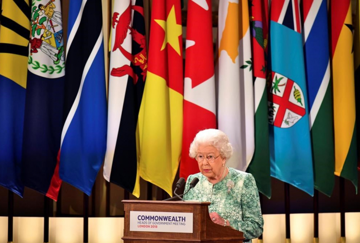 Britain, Queen Elizabeth II, Commonwealth Heads of Government Meeting, Buckingham Palace,