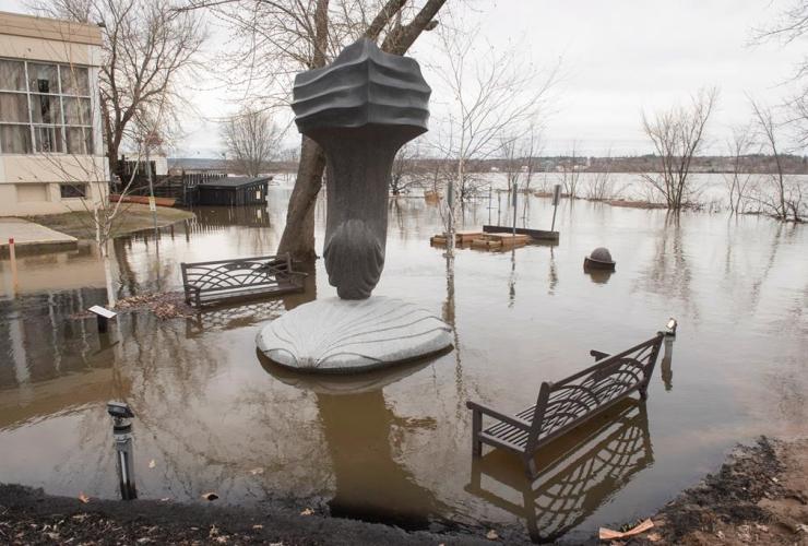 artwork, Beaverbrook Art Gallery, Flood water, St. John River, Fredericton,