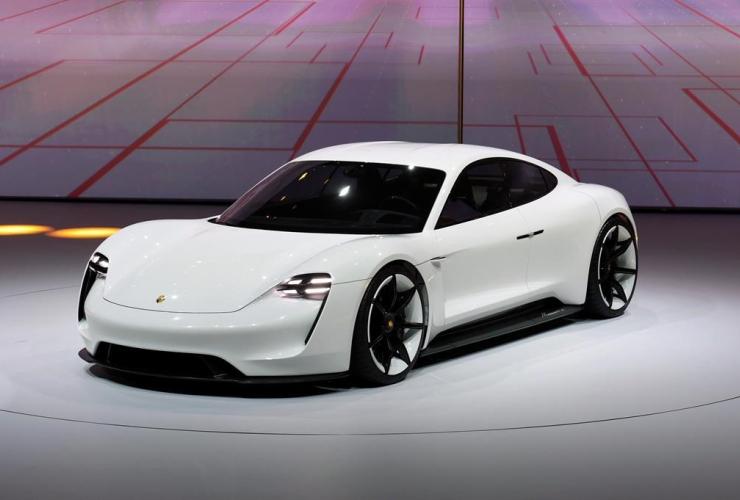 Porsche Mission E, Volkswagen, Frankfurt Auto Show IAA, Frankfurt, Germany,