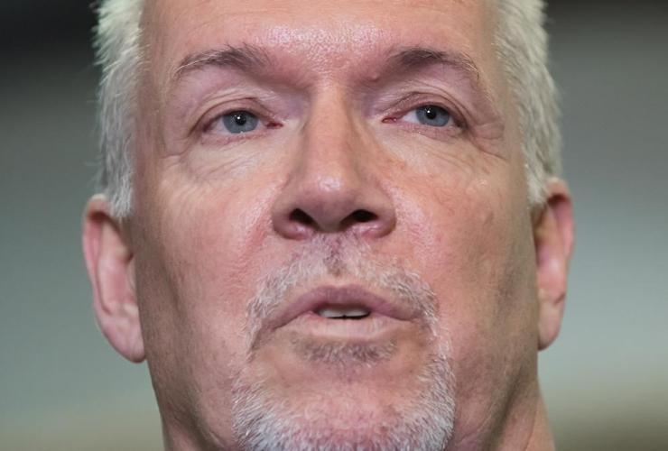 British Columbia Premier, John Horgan, news conference, Chilliwack,