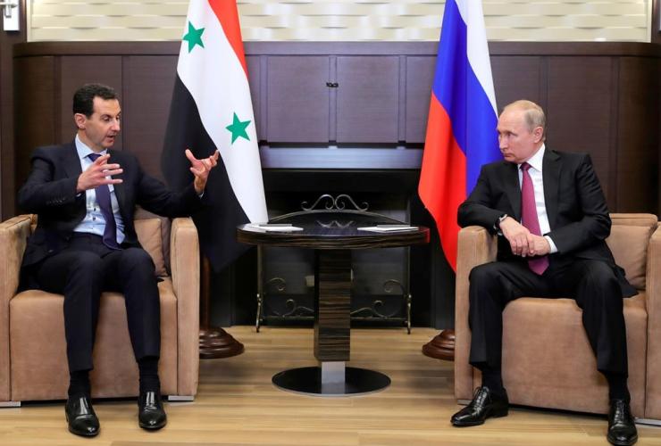 Russian President Vladimir Putin, Syrian President Bashar al-Assad, Black Sea resort, Sochi, Russia,