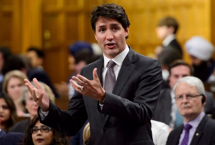 Prime Minister Justin Trudeau, House of Commons, Parliament Hill,