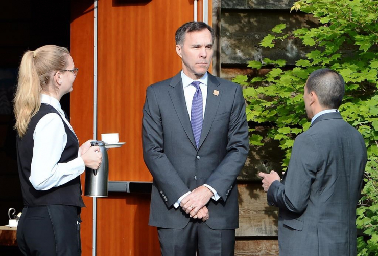 Finance Minister Bill Morneau, G7 finance ministers meeting, Whistler,