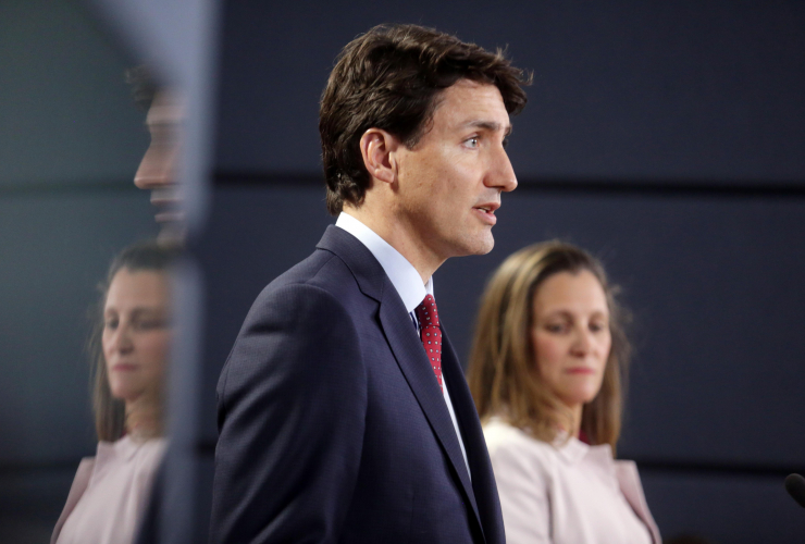 Justin Trudeau, Chrystia Freeland, Ottawa, National Press Theatre, NAFTA, trade, Donald Trump